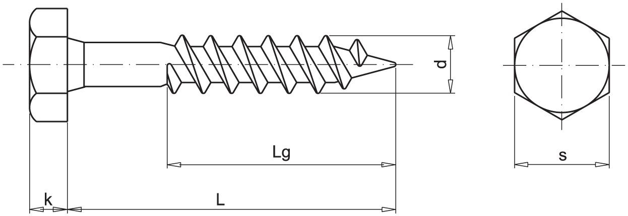 Шуруп DIN571 (глухарь)
