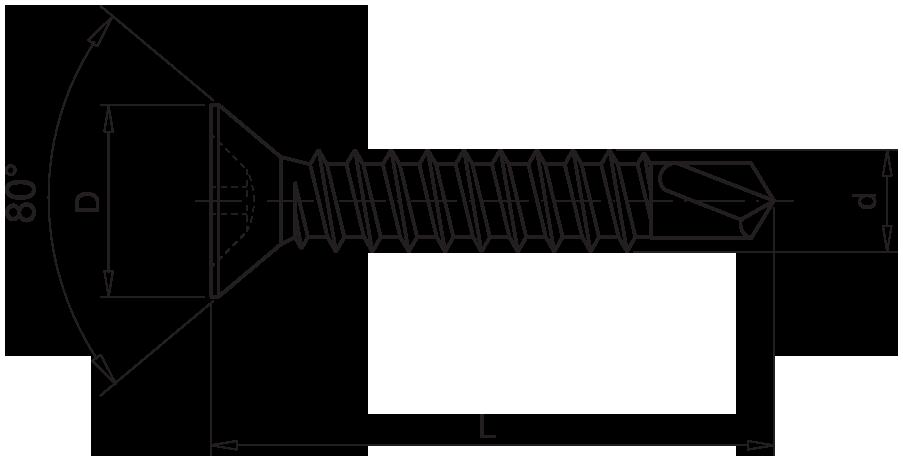 Саморез (оконный) со сверлом